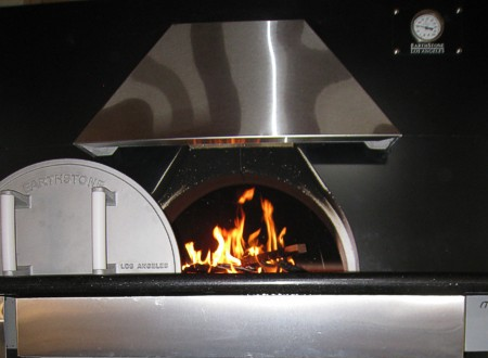 wood oven, operating